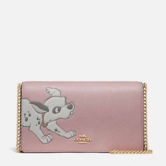 Disney X Coach Callie Chain Clutch With Dalmatian